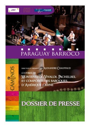 dossier de presse tournée jmf - le couvent - CD Baroque - K617