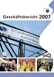 Download Geschäftsbericht 2007 - Studentenwerk Aachen
