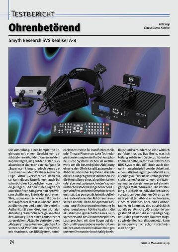 Dynamik satt - Studio Magazin