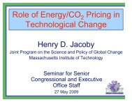 The Role of Energy Pricing in Inducing Technological Change for ...