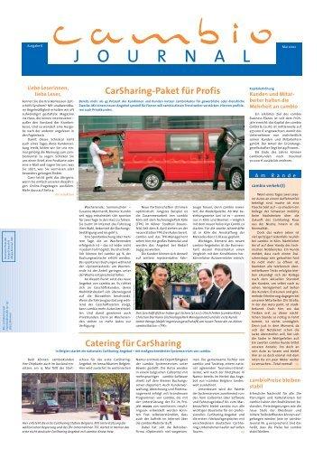 cambio journal - cambio CarSharing