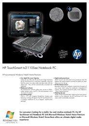 HP TouchSmart tx2-1105ee Notebook Datasheet - am4computers