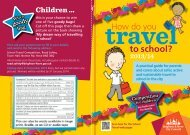 How do you travel to school? - Brighton & Hove City Council