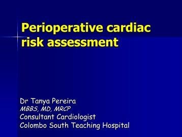 Perioperative cardiac risk assessment