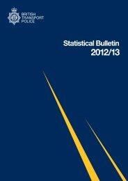 Statistical Bulletin 2012/13 (PDF download) - British Transport Police