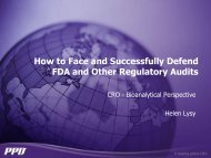 How to Face and Successfully Defend FDA and Other ... - AAPS