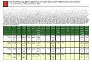 Purnea - STATE HEALTH SOCIETY-----BIHAR