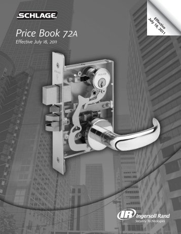 Schlage July 18 2011 Pricebook 72A.pdf - Access Hardware Supply