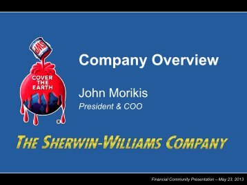 Company Overview - Sherwin-Williams