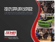 THE SEMA SHOW DELIVERS THEM ALL