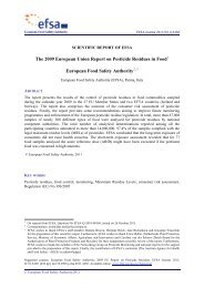 EFSA 2009 Annual report on pesticide residues - PAN Europe