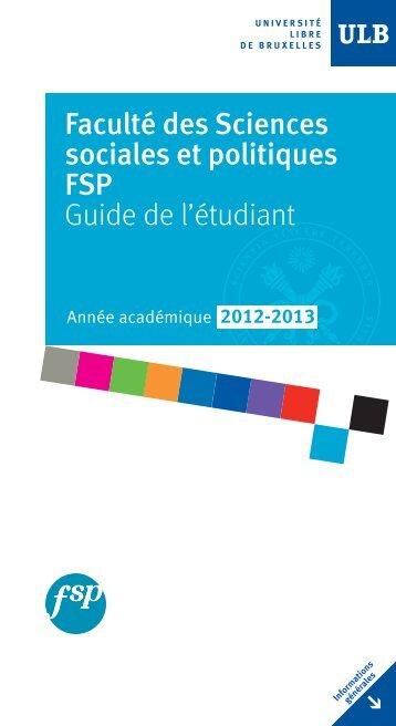 Mise en page 1 - Faculté des Sciences sociales et politiques ...