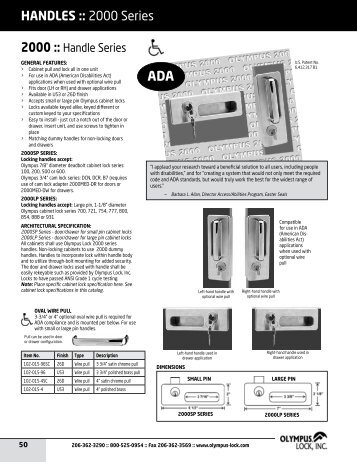 Catalog page - Olympus Lock