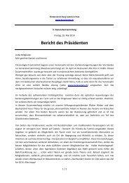 Bericht des Präsidenten - Förderverein Burg Castels in Putz