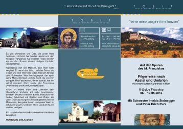 Pilgerreise nach Assisi und Umbrien - Tobit-Reisen