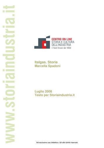 Italgas. Storia - Centro on line Storia e Cultura dell'Industria