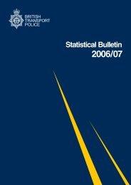 Statistical Bulletin - British Transport Police