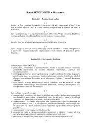 Statut SKNGP - Studenckie Koło Naukowe Gospodarki ...
