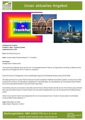 Schlagernacht Frankfurt - Eventreisen - Trierischer Volksfreund