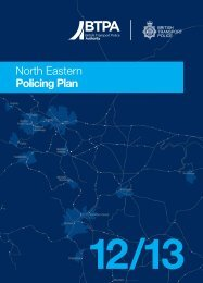 North Eastern - British Transport Police Authority