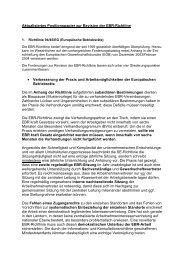 Aktualisiertes Positionspapier zur Revision der EBR-Richtline ...