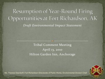 Draft Environmental Impact Statement Tribal Comment Meeting April ...