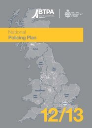 National Policing Plan - British Transport Police Authority