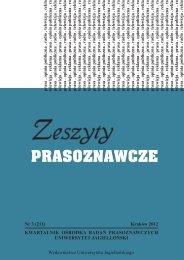 prasoznawcze - Wydawnictwo Uniwersytetu Jagiellońskiego