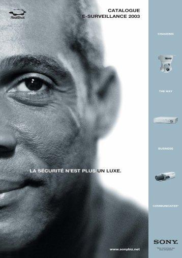 catalogue e-surveillance 2003 la sécurité n'est plus un luxe.