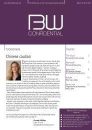 news, analysis - BW Confidential