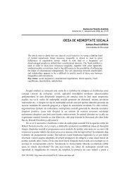 ideea de nedreptate socială - Societatea Română de Filosofie ...
