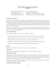CSCI 120: Computer Science I - Moravian College