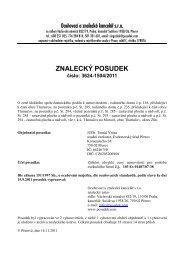 ZNALECKÝ POSUDEK číslo: 3624-1504/2011 - e-aukce