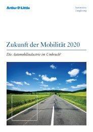 Zukunft der Mobilität 2020 - Arthur D. Little