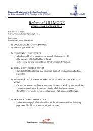 Referat af UU MØDE - Støvring IF