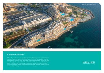 to view what's happening in August and September - Marina Hotel at ...