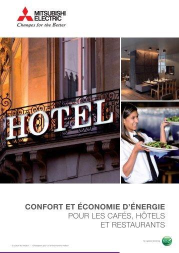 CONFORT ET ÉCONOMIE DTÉNERGIE pour les cafés, hôtels et ...