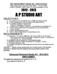AP Studio Art Assignments