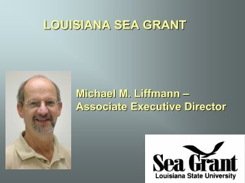 LOUISIANA SEA GRANT - Louisiana Fisheries