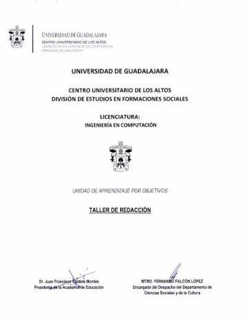Taller de redacción - Centro Universitario de los Altos - Universidad ...