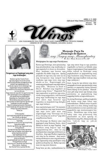 Wings Abril 5- 11, 2009.pmd - Parokya ni San Vicente Ferrer ...