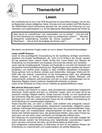 Lesen - KGS Burgschule