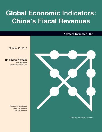 China Tax Revenues - Dr. Ed Yardeni's Economics Network