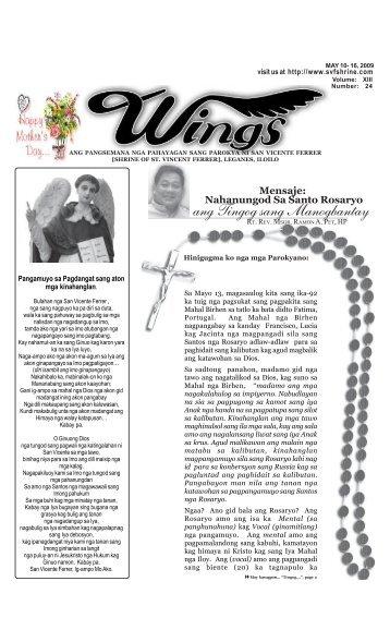 Wings May 10- 16, 2009.pmd - Parokya ni San Vicente Ferrer ...