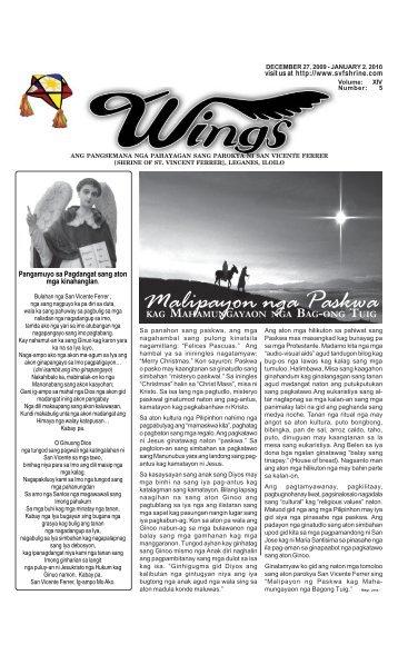 December 27, 2009- January 2, 2010.pmd - Parokya ni San Vicente ...