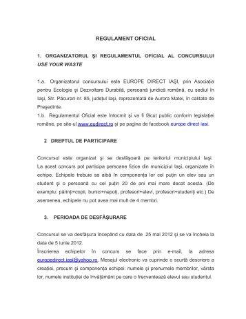 REGULAMENT OFICIAL - Europe Direct Iasi