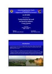 Trasformazione dei suoli nel Nord Est italiano - Planeco