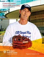 Cancer Center Annual Report 2012 - St. Joseph's Medical Center