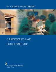 CARDIOVASCULAR OUTCOMES 2011 - St. Joseph's Medical Center