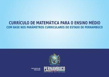 Matemática (Ensino Médio) - Secretaria de Educação de Pernambuco